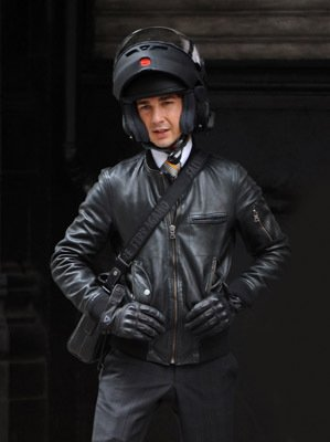 Shia La Beouf Leather Jacket wall street