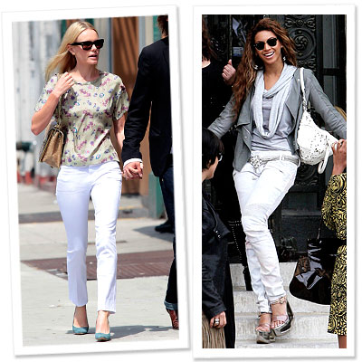 girls white jeans style watch