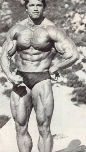 young Arnold Schwarzenegger speedo swimsuit