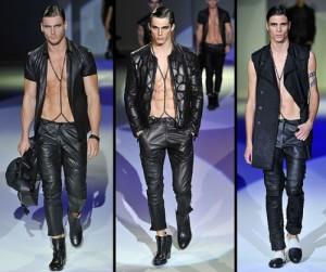 liquid leather jacket armani