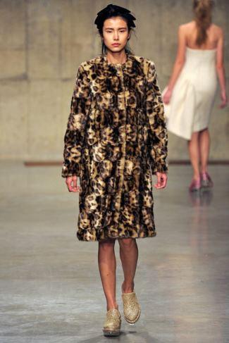 Faux Fur Coats for Women - Simone Rocha Fall Wintr 2013-2014 Collection