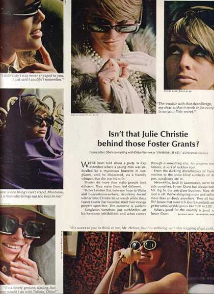 julie christie in whos behind those foster grant