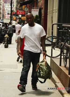 kanye west louis vuitton camouflage keepall bag
