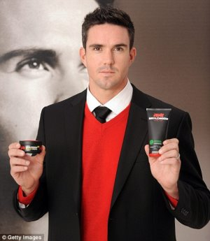 Kevin Pietersen hair for brylcreem