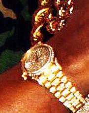mr t rolex gold watch