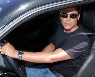 celebrities wearing rolex daytona watch rob lowe