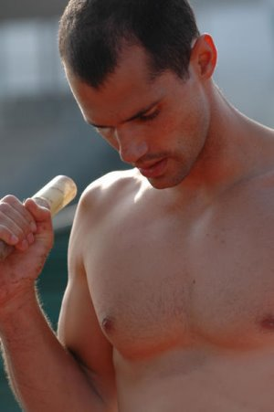 Romain Mesnil french pole vaulter