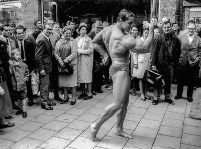 Young Arnold Schwarzenegger speedo