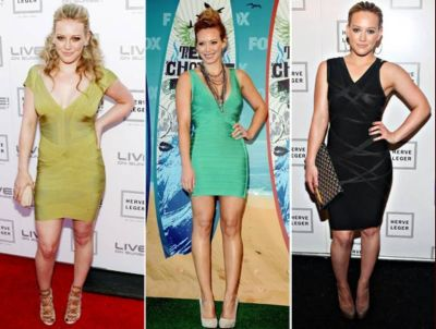 best bandage dress hillary duff