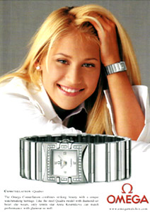 ladies omega watch anna kournikova