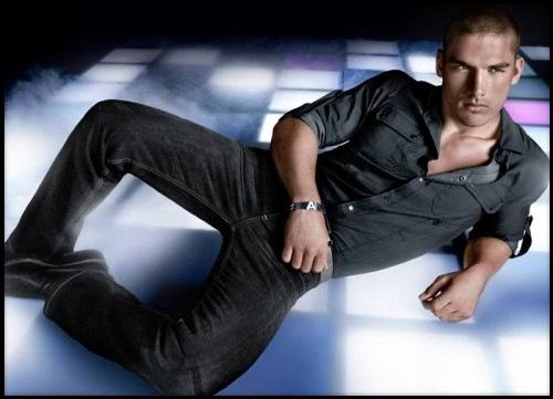 hot men wearing jeans armani