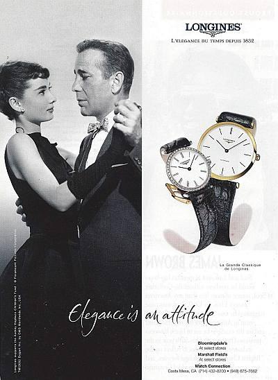 audrey hepburn humphrey bogart longines watch