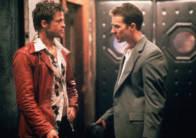 fight club leather jackets - red leather brad pitt