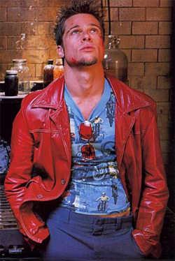 fight club leather jacket - brad pitt