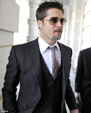 piece suits for men brad pitt