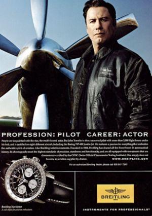 john travolta watch is a breitling navitimer