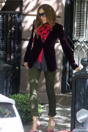 celebrities wearing Christian Louboutin shoes sjp