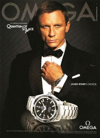 daniel craig omega watch -quantum of solace