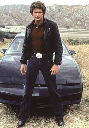 david hassselhoff leather jacket on knight rider