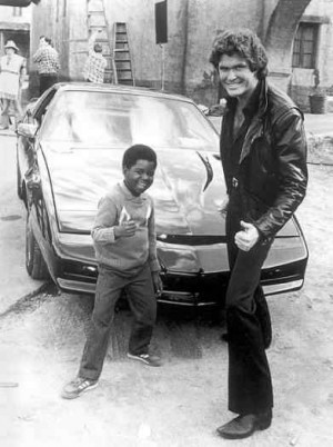 david hasselhoff leather jacket in knight rider