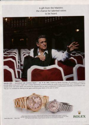 Vintage Rolex Watch placido domingo day date