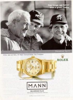 celebrity gold watches - golf superstars
