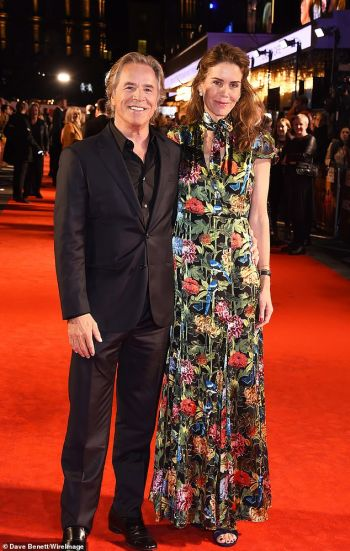 don johnson now - with wife kelley 2019 in london knives out premiere