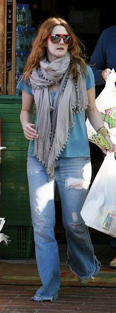 drew barrymore fashion jeans