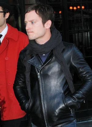 elijah wood leather fashion