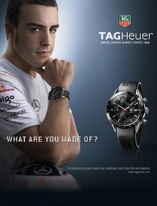 fernando alonso tag heuer watch