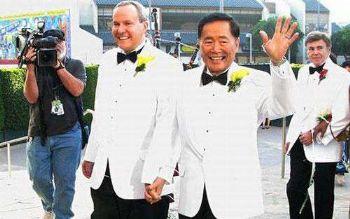 gay men in tuxedo suits george takei brad altman