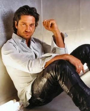 gerard butler leather pants