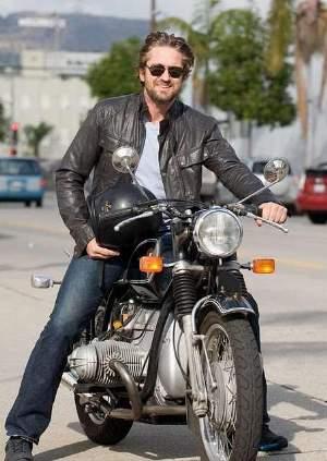 Gerard Butler Leather Jackets moto jacket