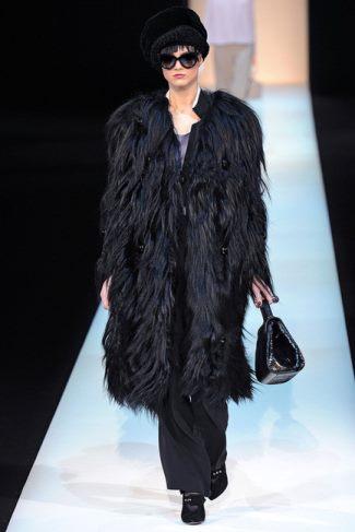 faux fur coats by giorgio armani