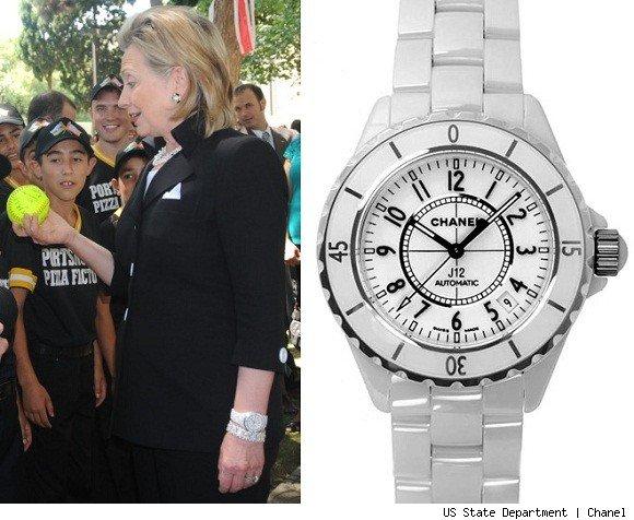 hillary clinton watch chanel j12