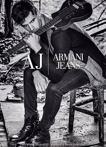 hot men in jeans armani - model fabio mancini