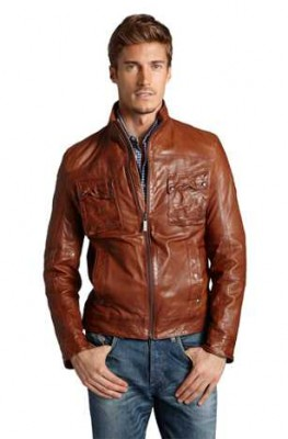 hugo boss leather jacket for men