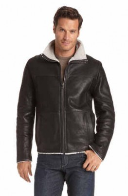 coliv hugo boss leather jacket for men