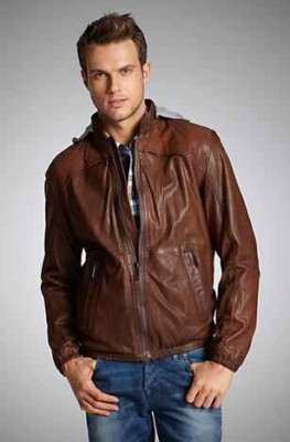 hugo boss leather jacket for men boss orange