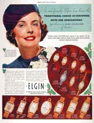 vintage ladies watches elgin advertisement
