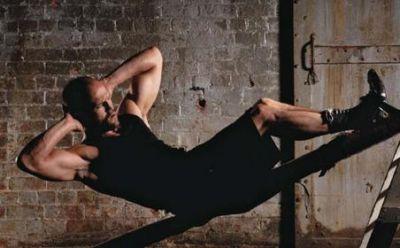 jason statham workout ab crunches