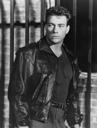 jean claude van damme leather jacket - 1990 death warrant
