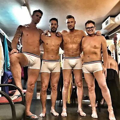 kevin pietersen underwear - with andrew flintoff jamie redknapp and alan carr