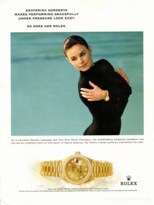 Rolex Lady Datejust Celebrity Ambassadors Ekaterina Gordeeva
