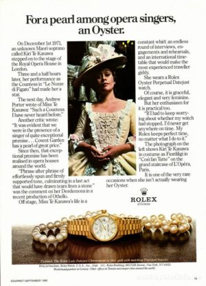 Rolex Lady Datejust Celebrity Ambassadors - Dame Kiri