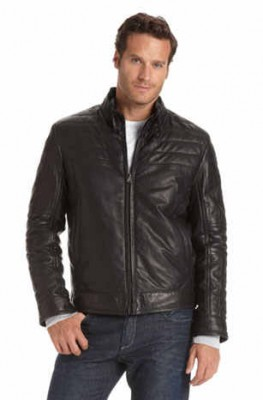 hugo boss leather jacket for men fando