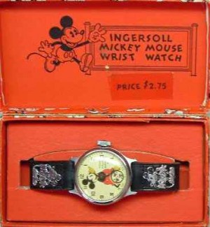 mickey mouse watch by ingersoll