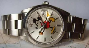 mickey mouse rolex watch