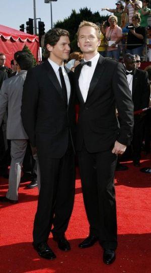 gay men in tuxedo suits nph david burtka