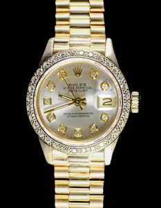 ladies gold watch - rolex yellow gold